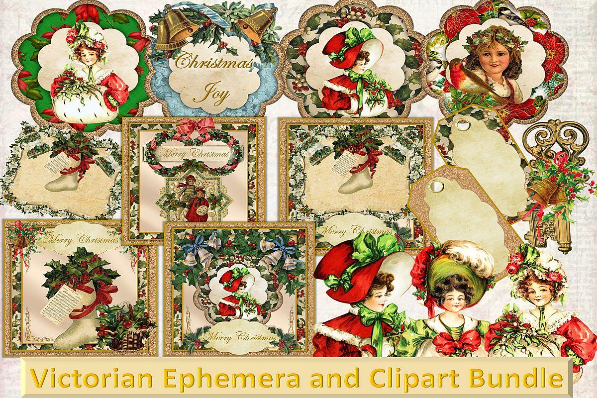 Vintage Ephemera and CLipart Bundle example image 1