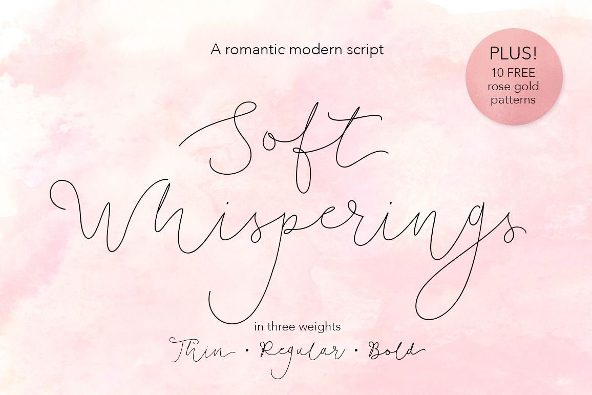 Soft Whisperings wedding font example image 1