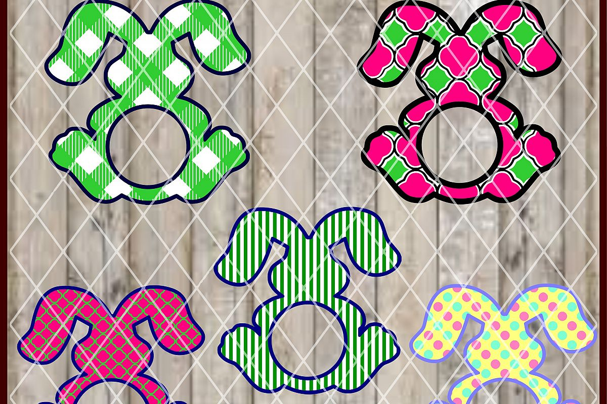 LC164 Bunny Monogram Frames example image 1