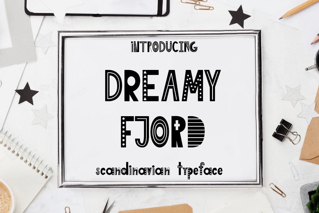 Dreamy Fjord-Scandinavian font example image 1