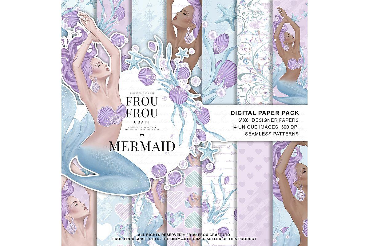 Mermaid Fairy Tale Sea Shell Ocean Paper Pack example image 1
