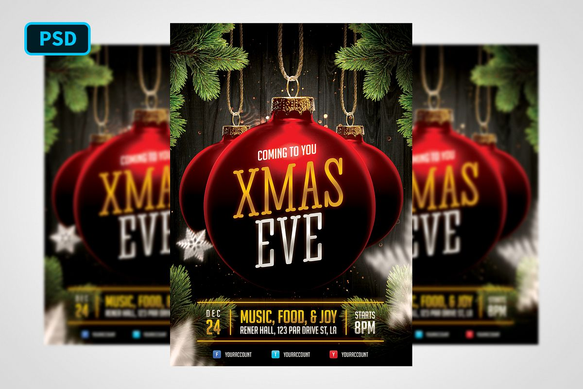 Christmas Event Flyer Template example image 1