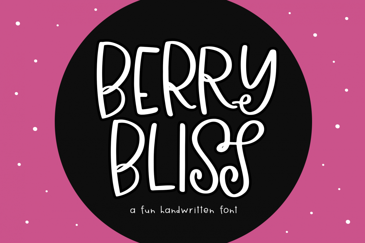 Berry Bliss - A Fun Handwritten Font example image 1