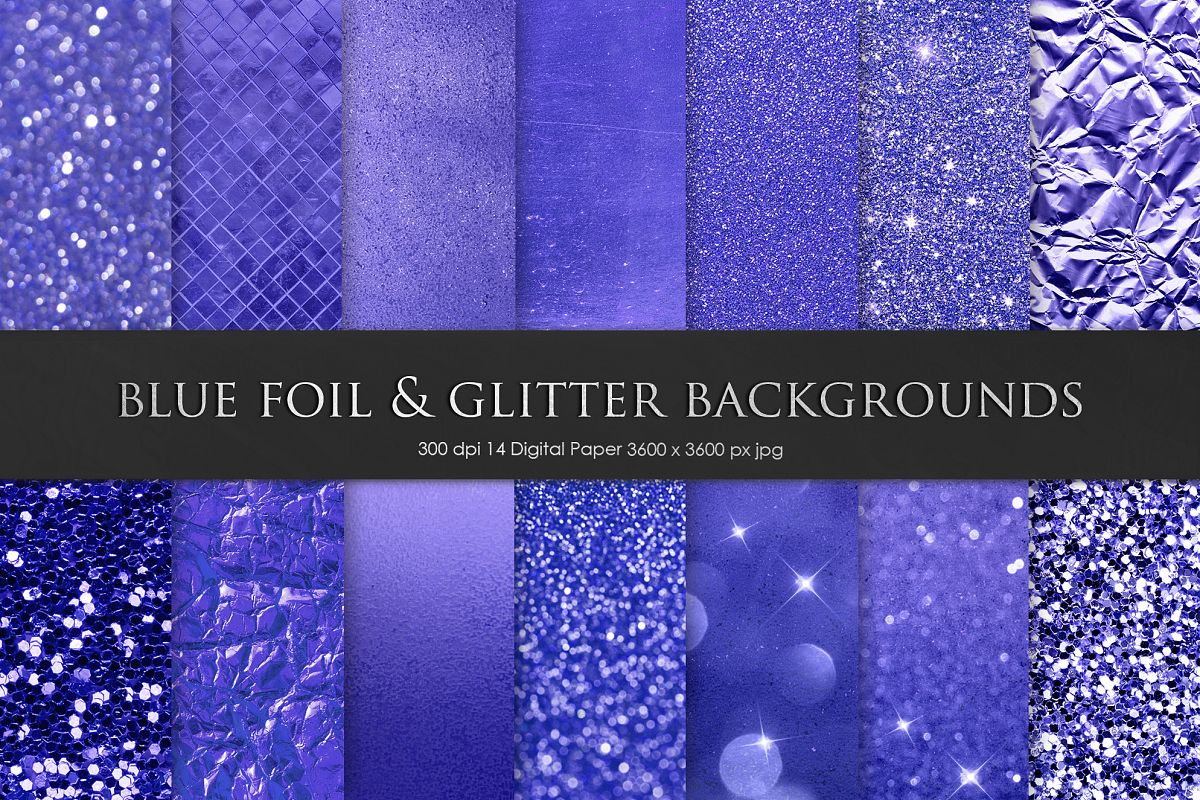 Blue Foil & Glitter Textures example image 1