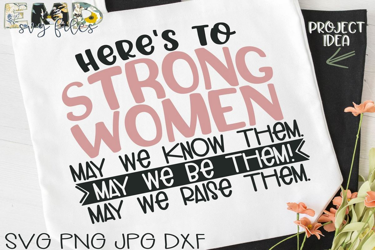 Strong Women Svg   Inspirational Svg Jpg Png Dxf example image 1