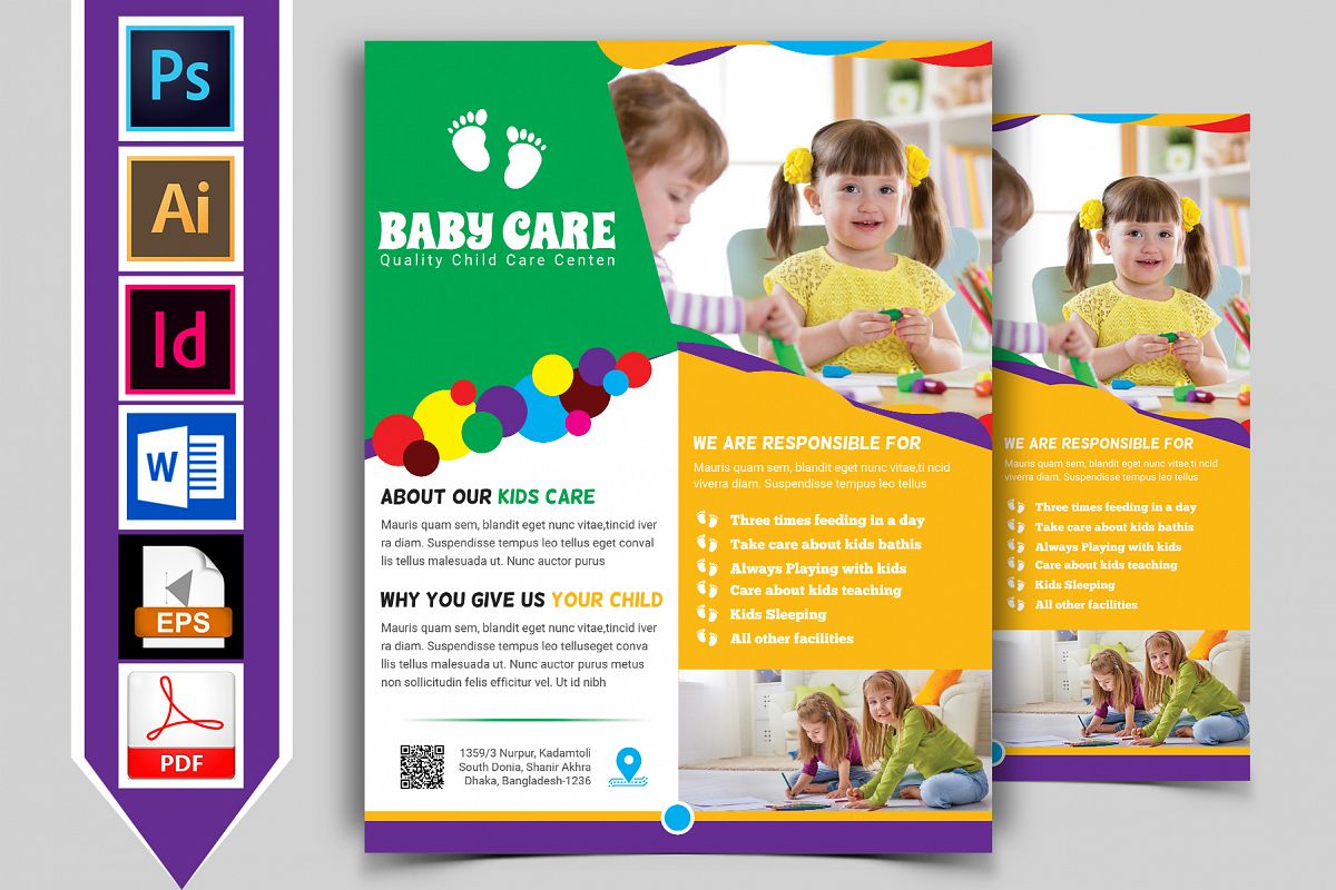 Baby Care Flyer Vol-03 example image 1