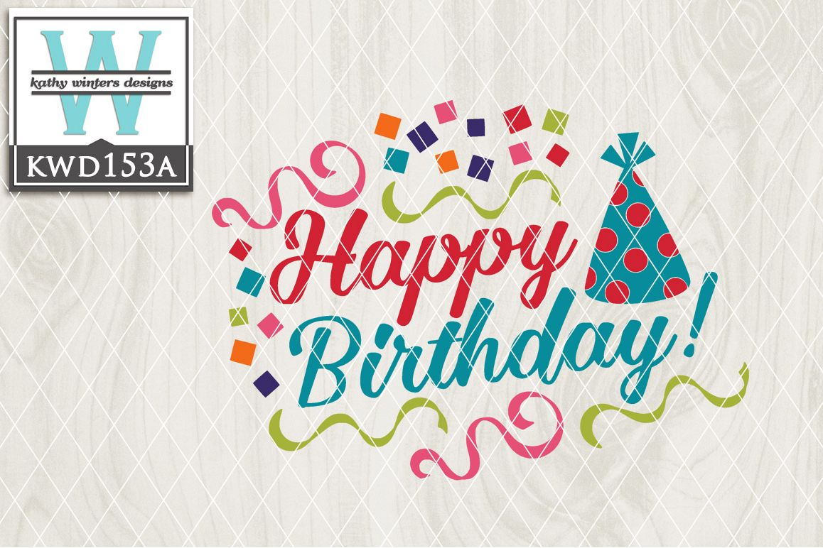 Birthday Cutting File KWD153A example image 1