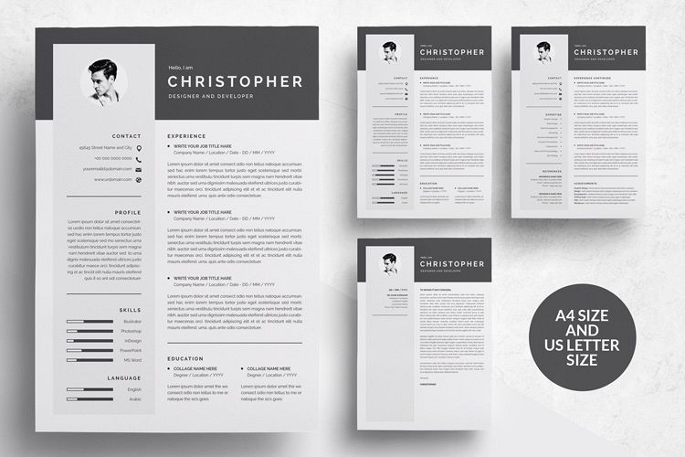 New 3 Pages Modern Resume Template/CV @NT93