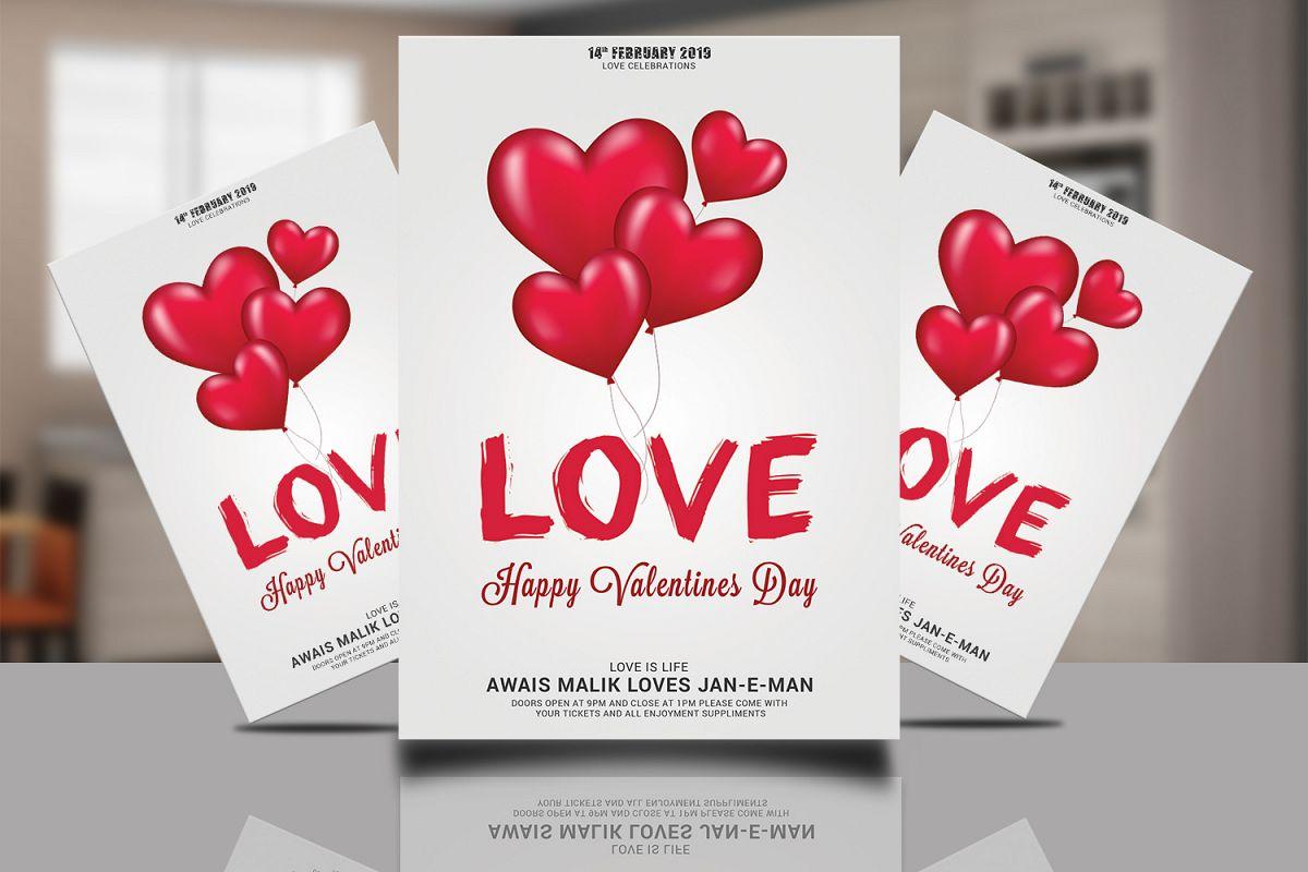 Valentnes Flyer Psd example image 1