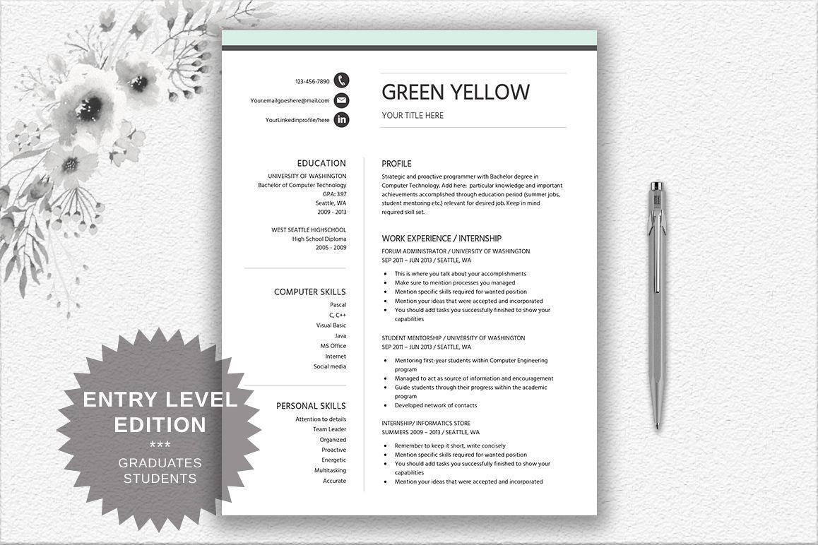Resume Template Entry Level | Career Starter Pack example image 1