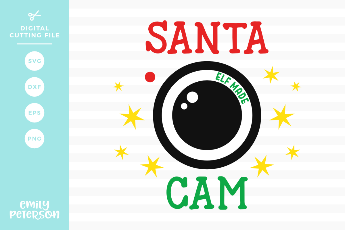 Santa Cam SVG DXF EPS PNG example image 1