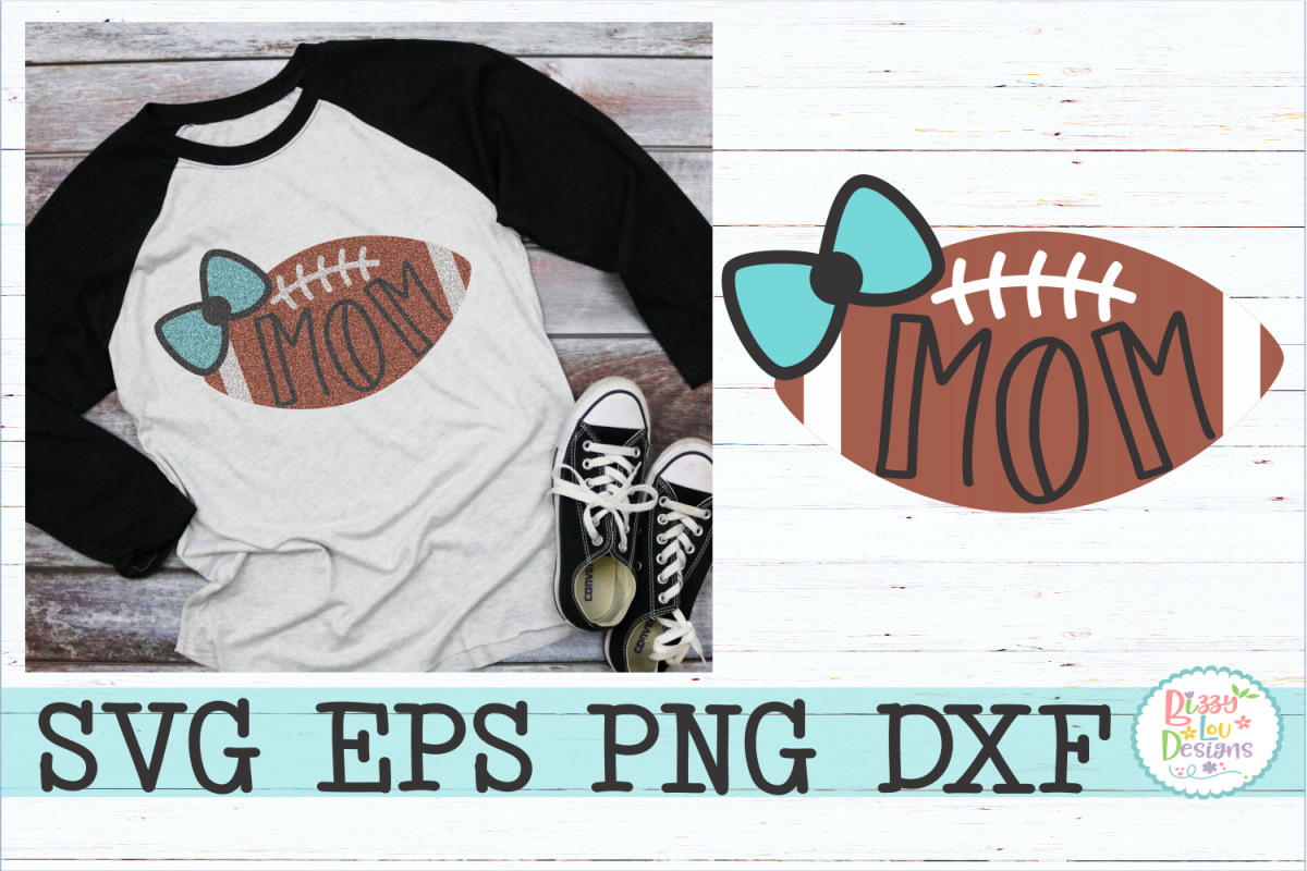 Mom Football with Bow example image 1