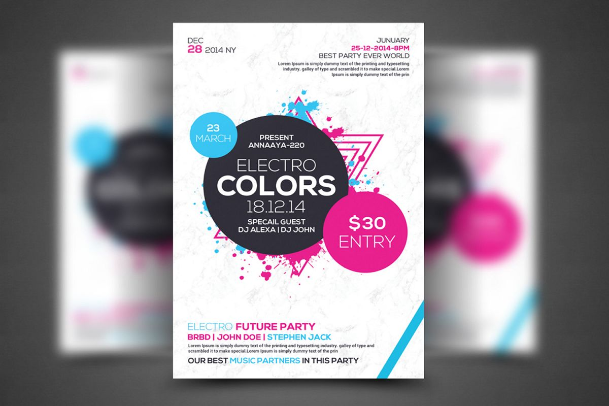Electro Future Concert Flyer example image 1