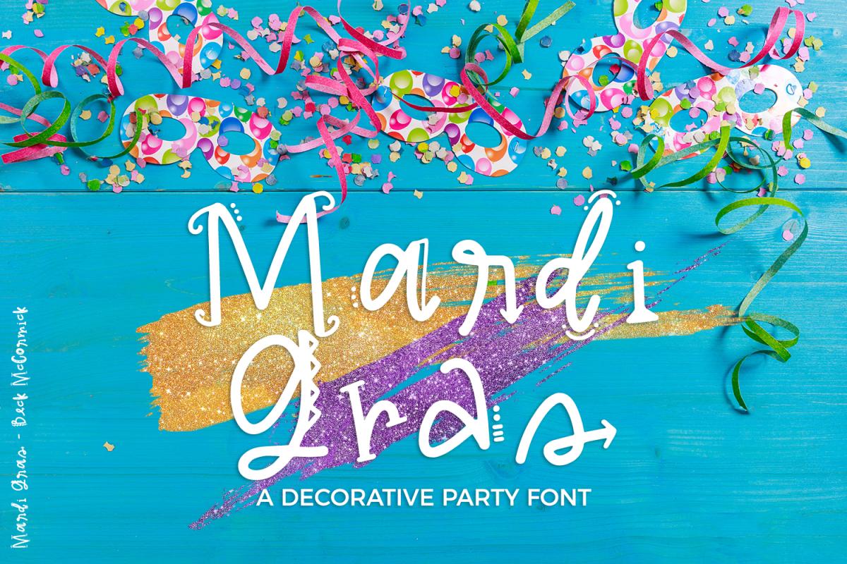 Mardi Gras Party Sans Font example image 1