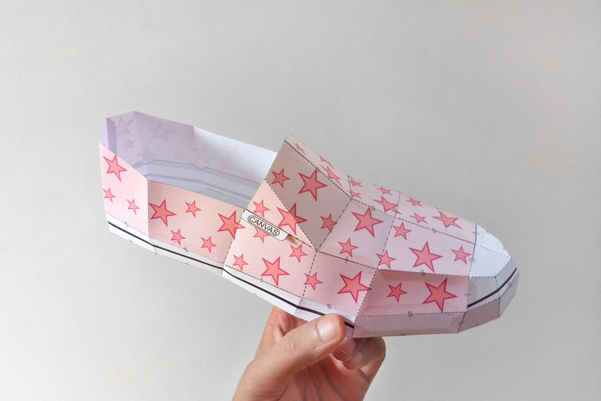 DIY Canvas Shoe - 3d papercrafts example image 1