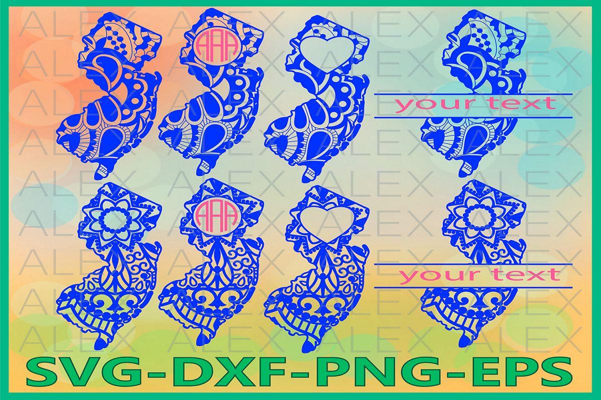 New Jersey State SVG, New Jersey Mandala SVG, New Jersey Svg example image 1