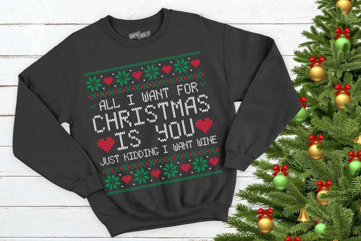 Wine Christmas Tree Shirt.All I Want For Christmas Is Wine Christmas Printable
