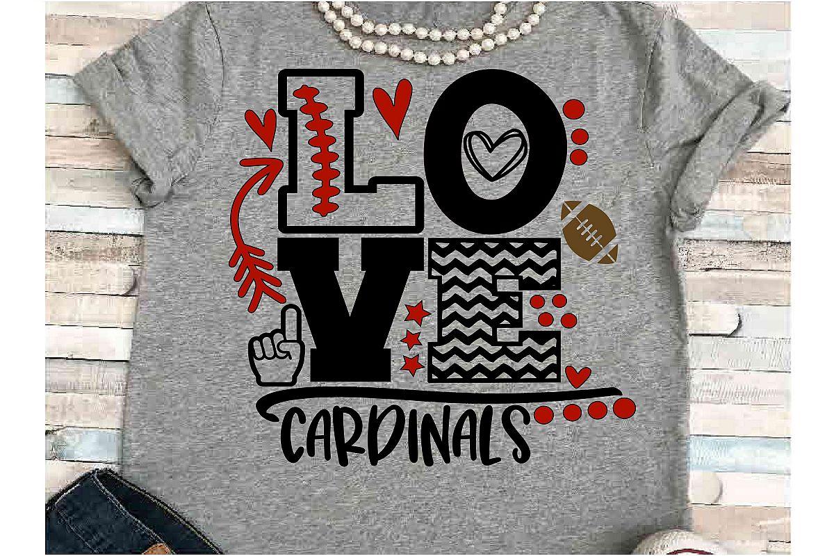 Football SVG DXF JPEG Silhouette Cameo Cricut cardinals mom example image 1