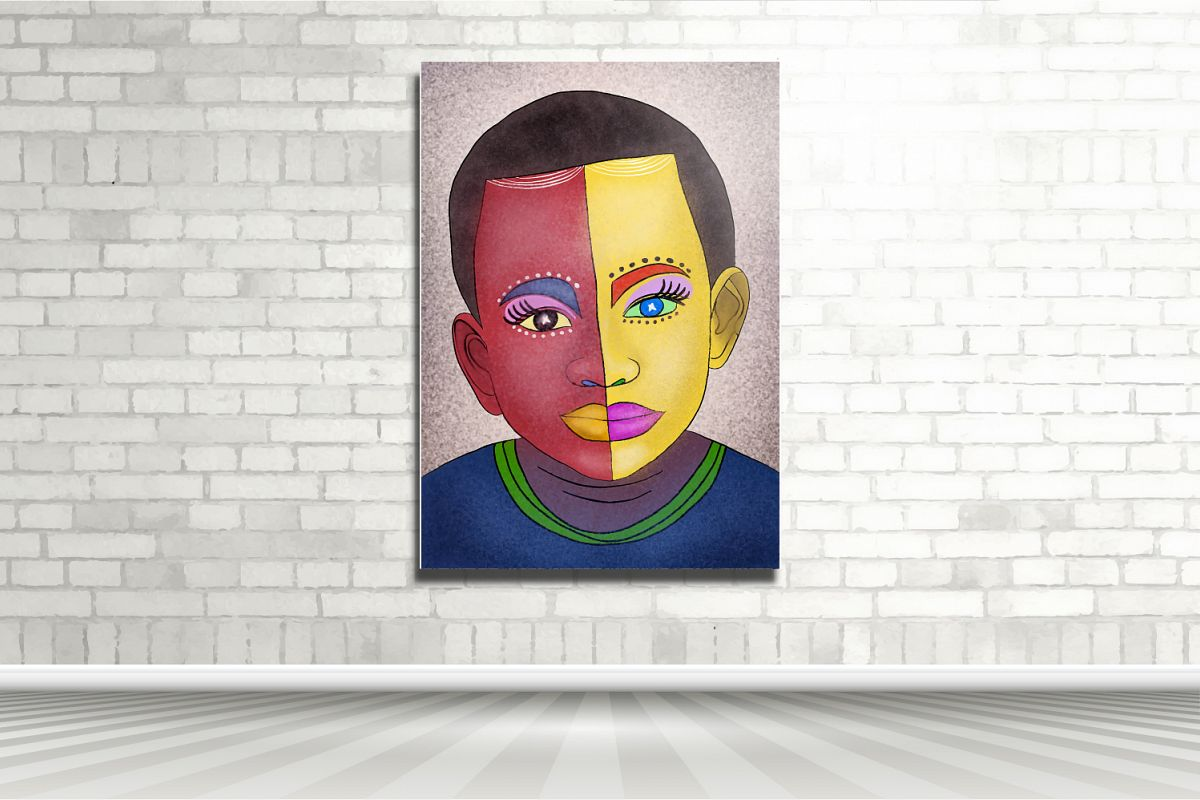 The two face of boy example image 1
