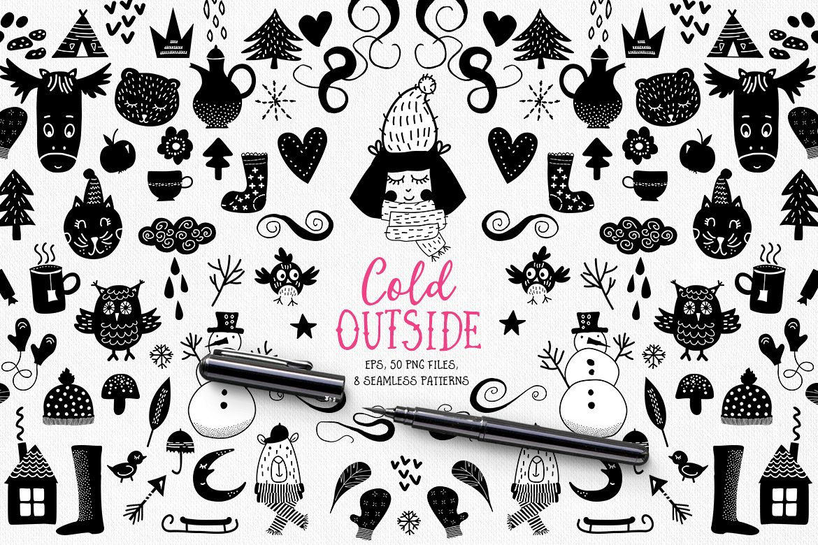Cold Outside Winter Vectors example image 1