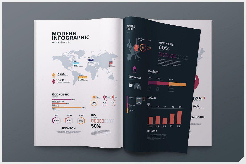Modern infographics vol.01 example image 1