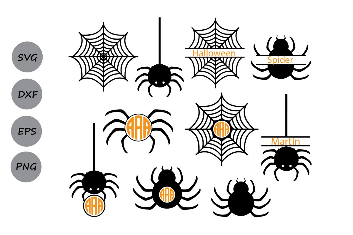 Halloween Svg Spider Svg Spider Web Svg Spider Monogram