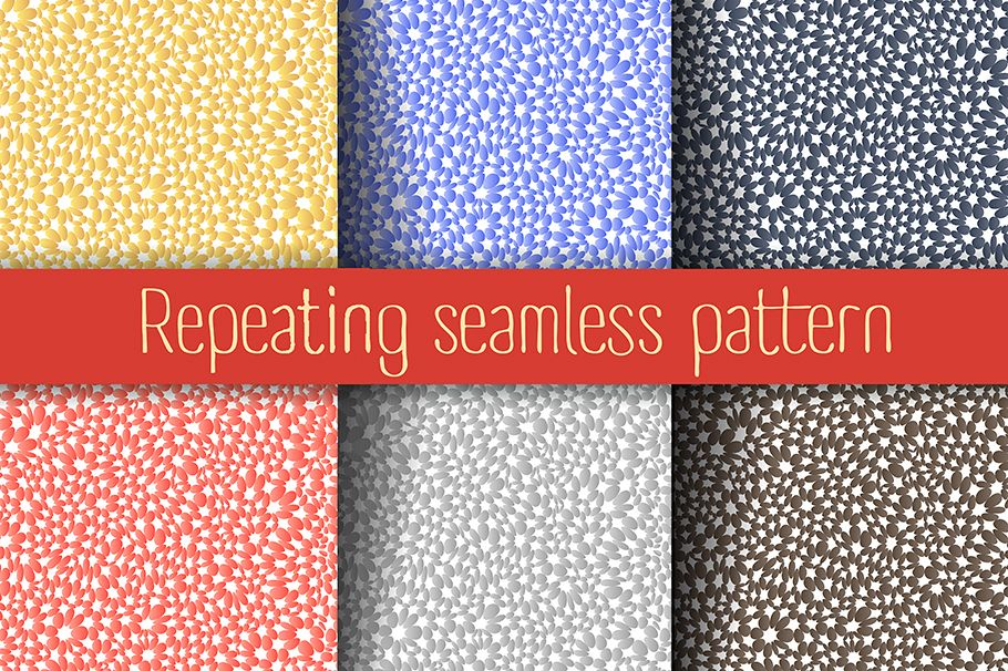 Set of abstract seamless repeating background example image 1