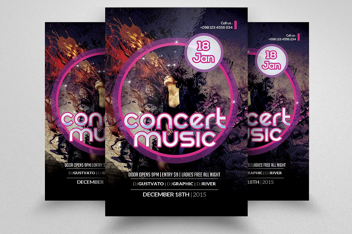 Music Band Concert Flyer example image 1