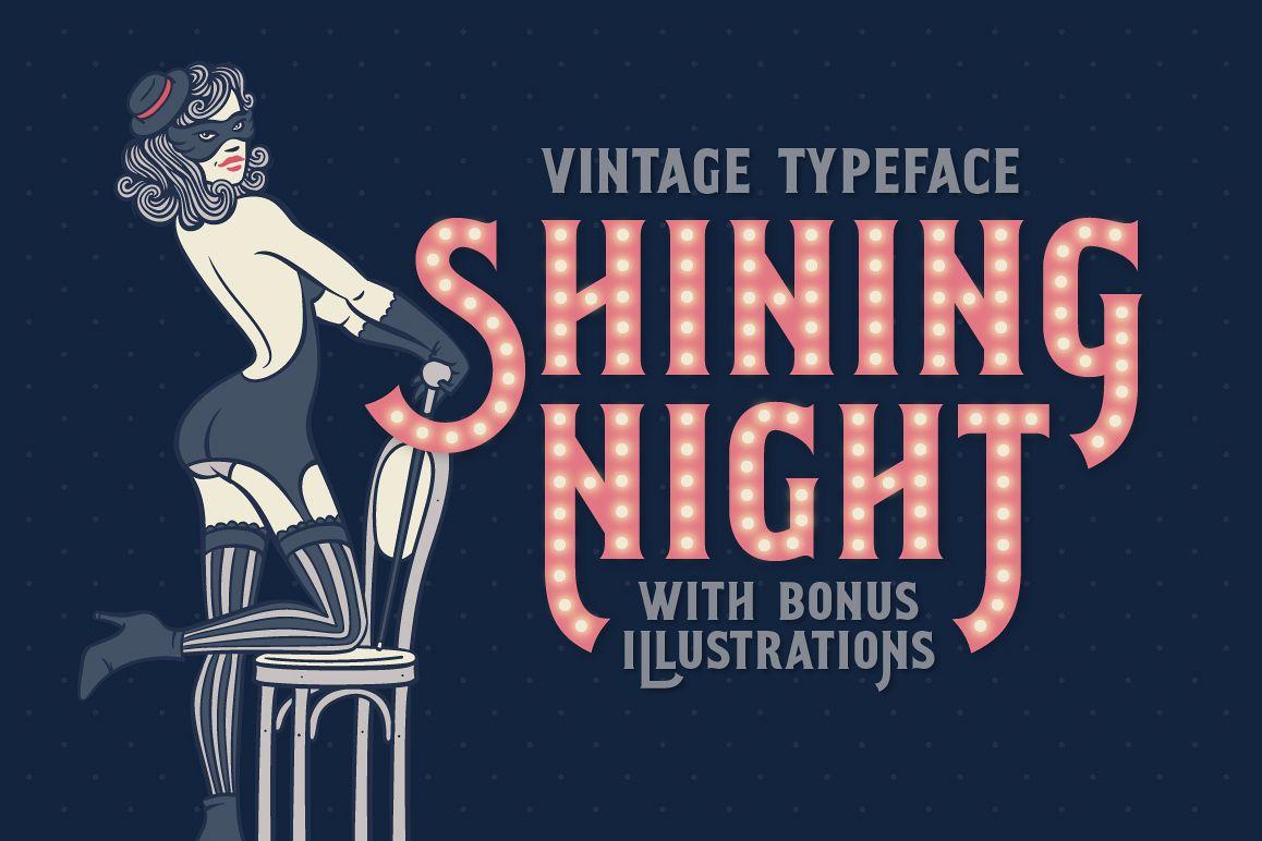 Shining Night font + bonus example image 1