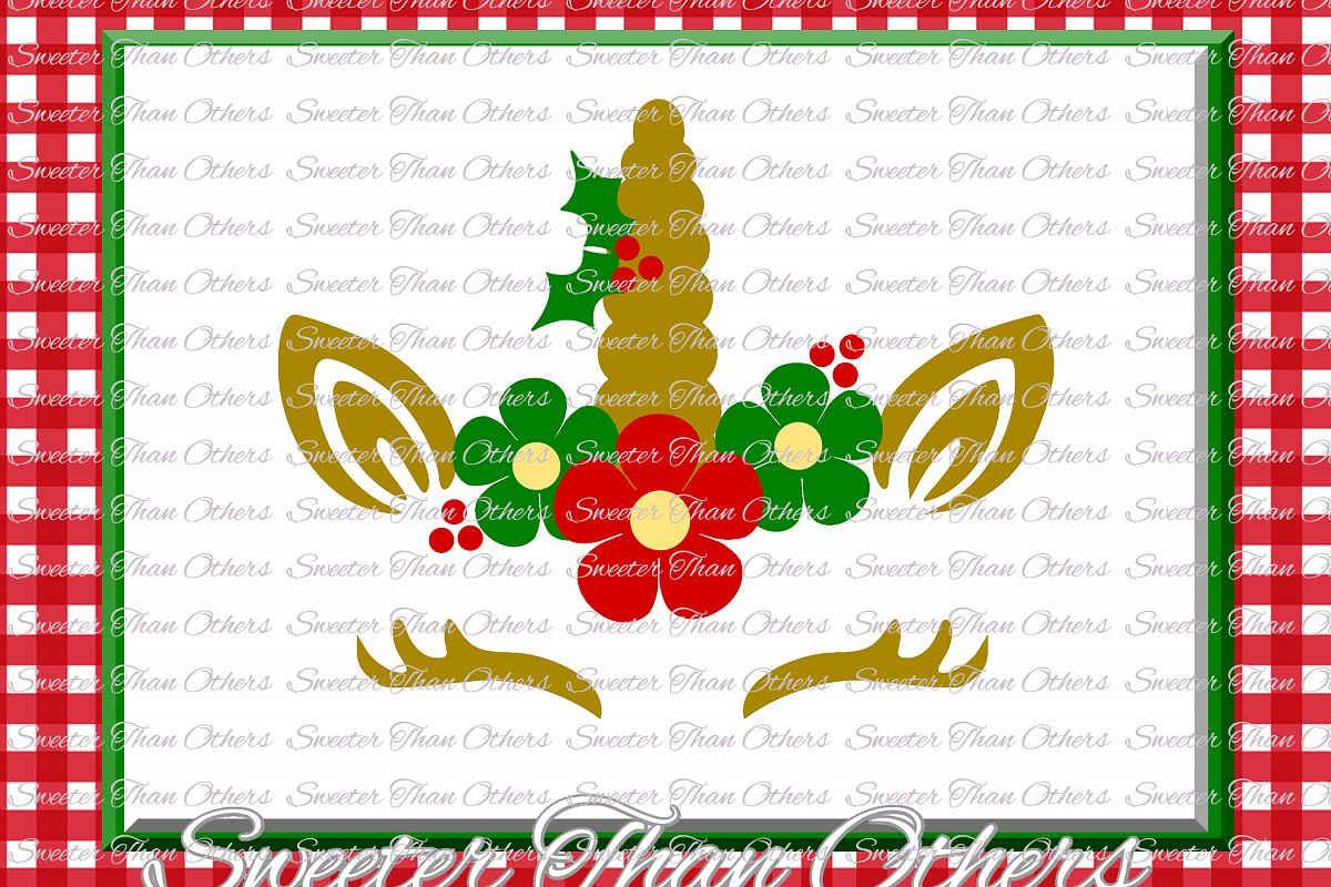 Christmas Svg, Unicorn Svg, Christmas Unicorn svg example image 1