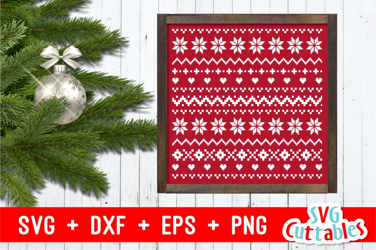 Christmas Sweater Pattern.Christmas Sweater Pattern Cut File