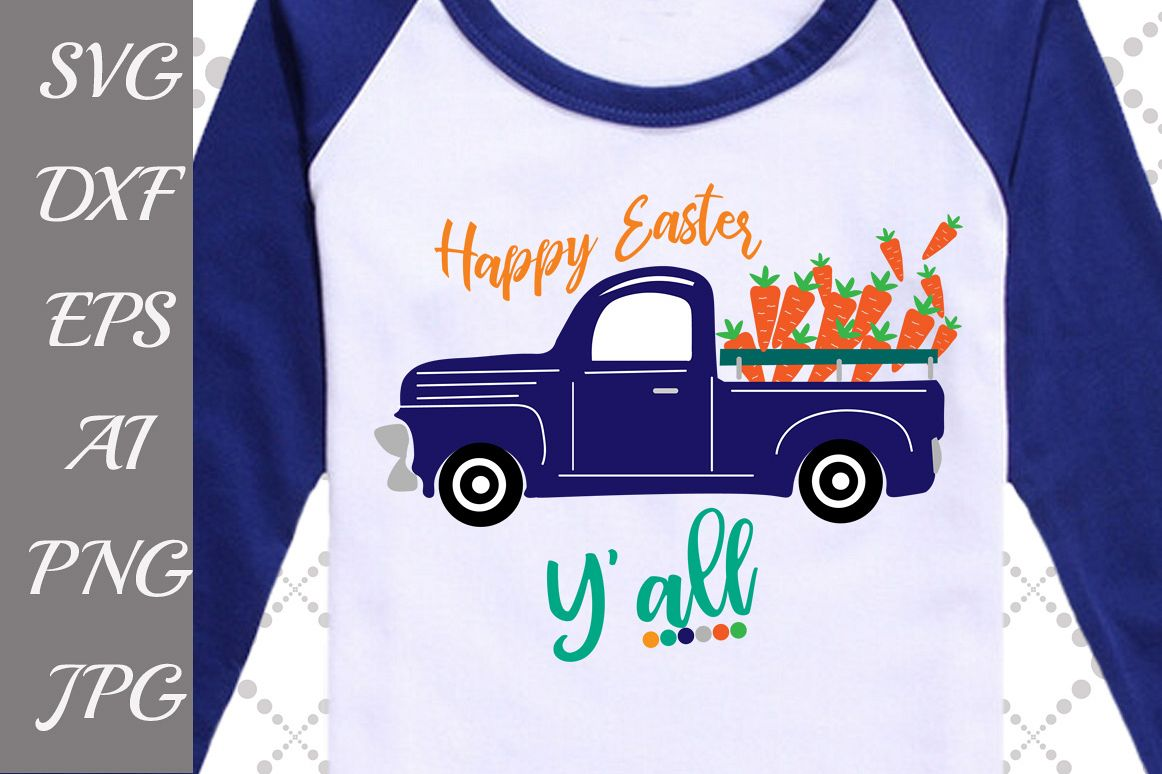 Happy Easter y'all Svg example image 1