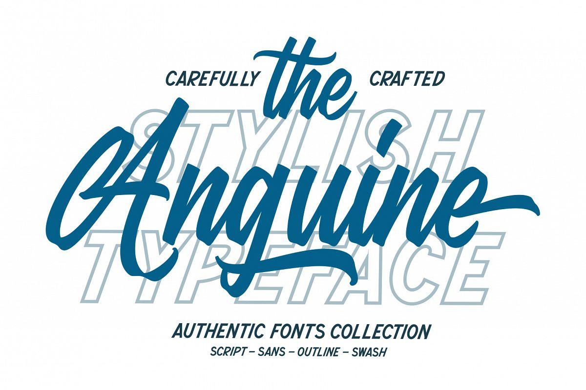 Anguine - Stylish Typeface example image 1