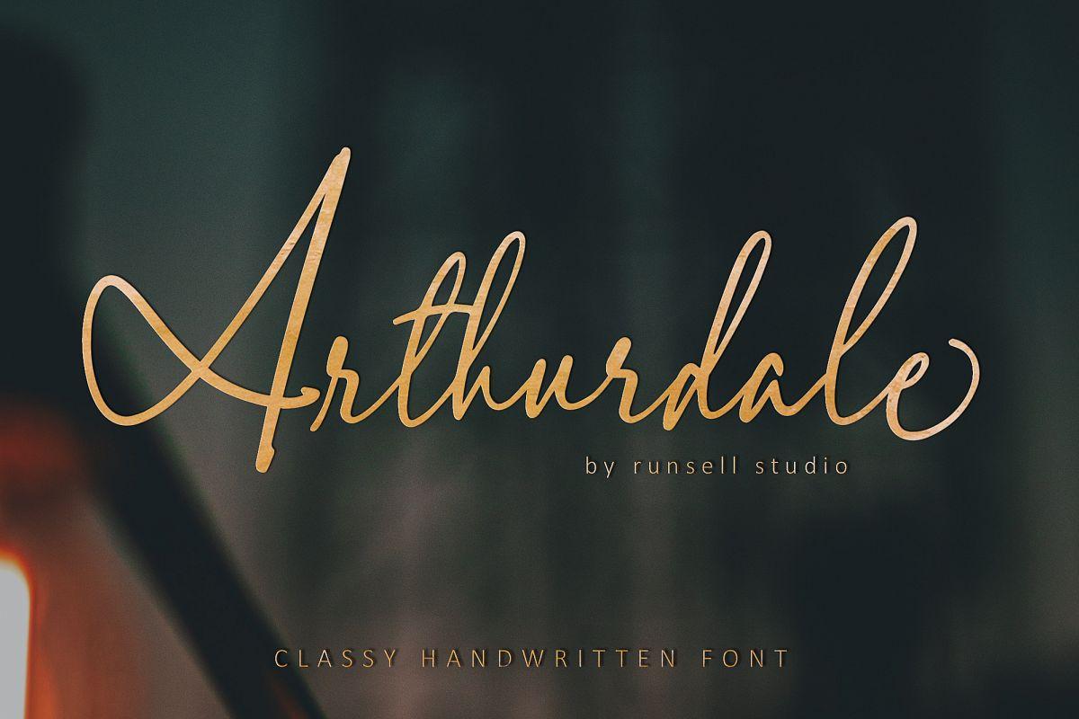 Arthurdale Script example image 1