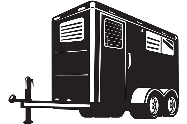horse trailer viewed from low angle example image 1
