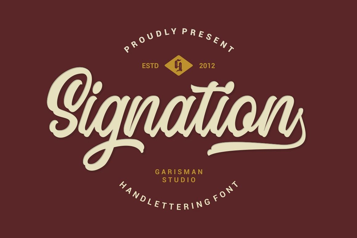 Signation - Handlettering Font example image 1