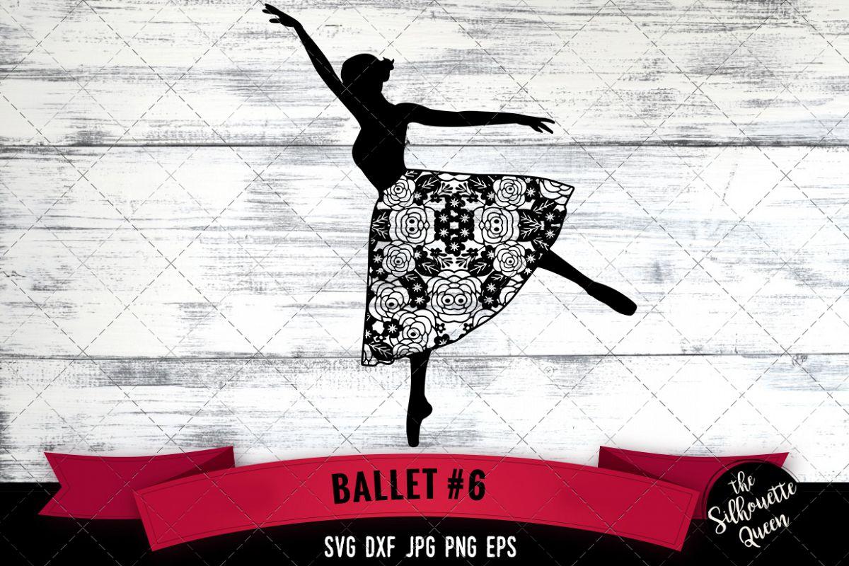 Floral Ballet 6 Svg Cut File example image 1