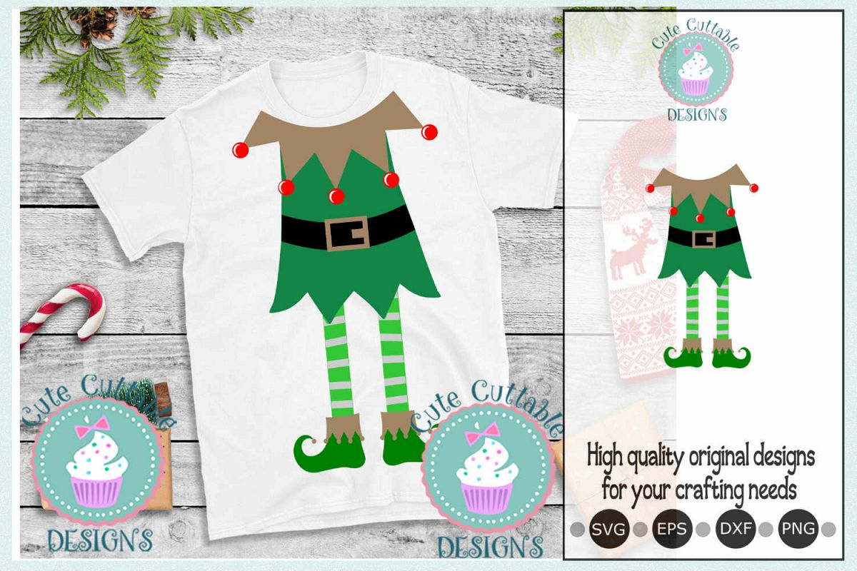 Ugly Christmas sweater, Elf SVG, Christmas SVG, Elf suit svg example image 1