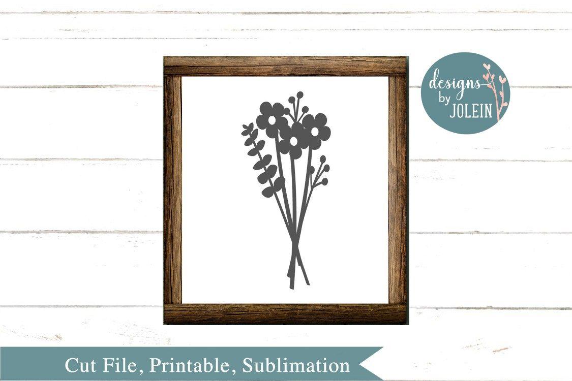 Floral Bouquet SVG, png, eps, sublimation, dxf, jpeg, print example image 1
