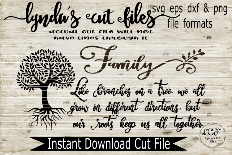 Family Tree - Long Version//SVG//EPS//DXF example image 1