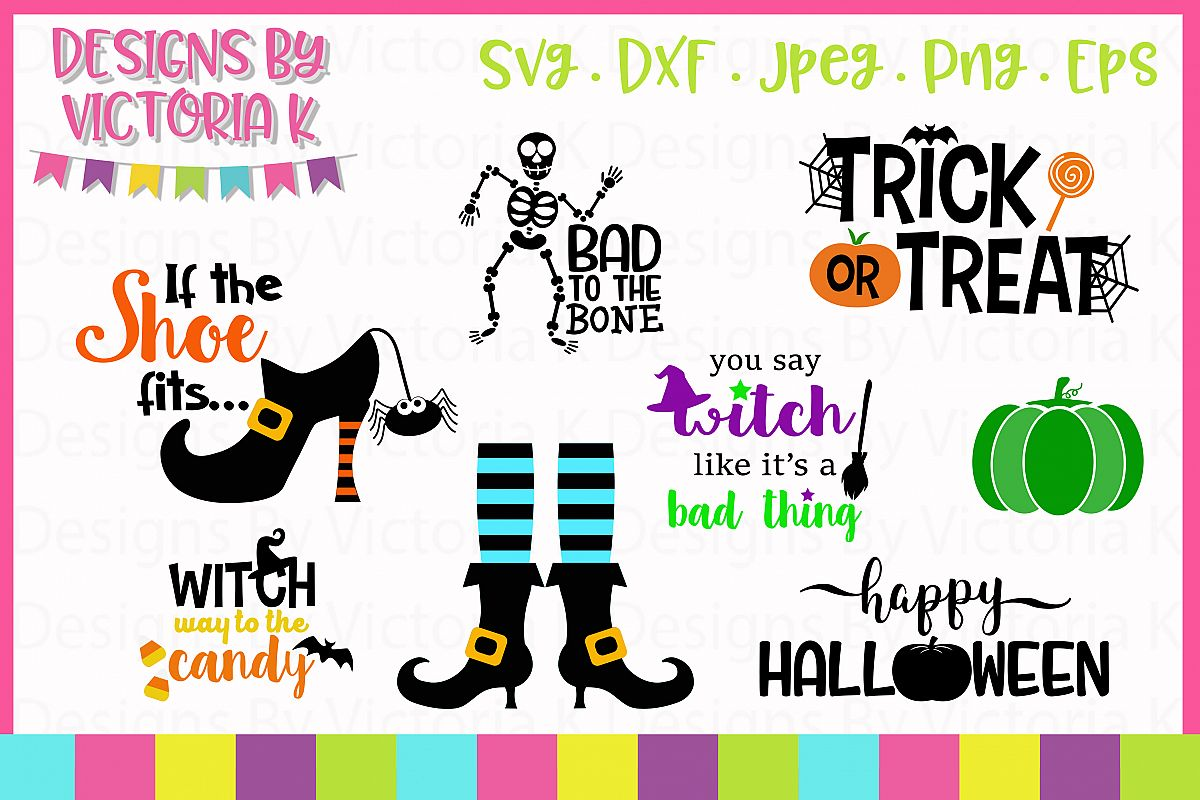 Mini Halloween Bundle SVG Cut Files example image 1