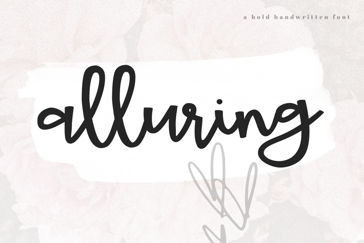 Alluring - A Bold Script Font example image 1
