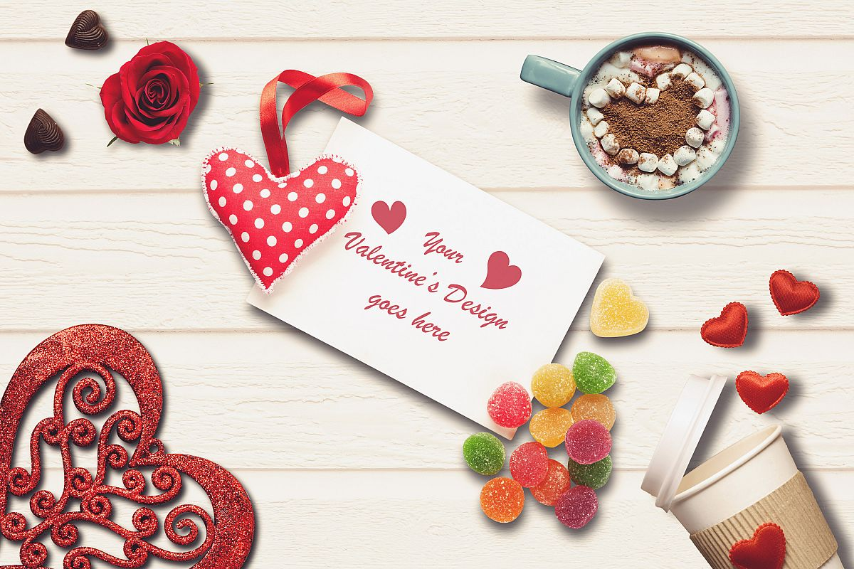 Valentine Card Mock-up #5 example image 1