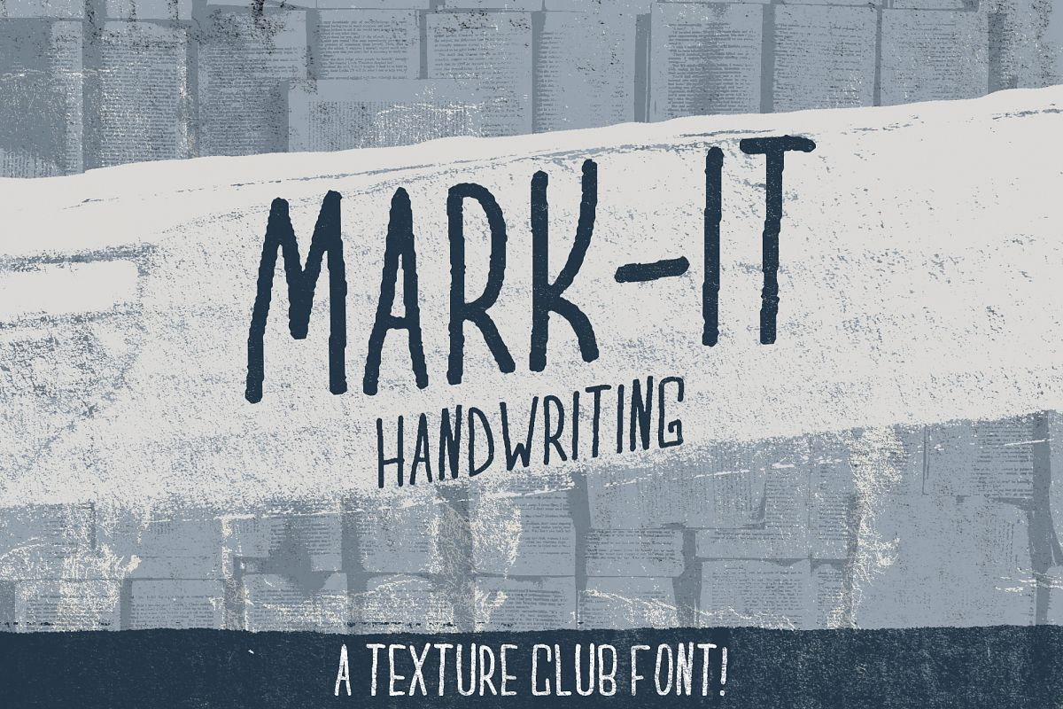 Mark-It handwritten font example image 1