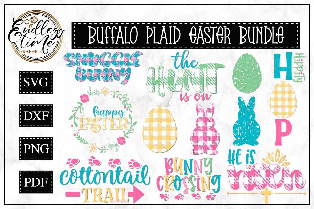 Buffalo Plaid Easter Bundle - A Hoppy Little Bundle example image 1