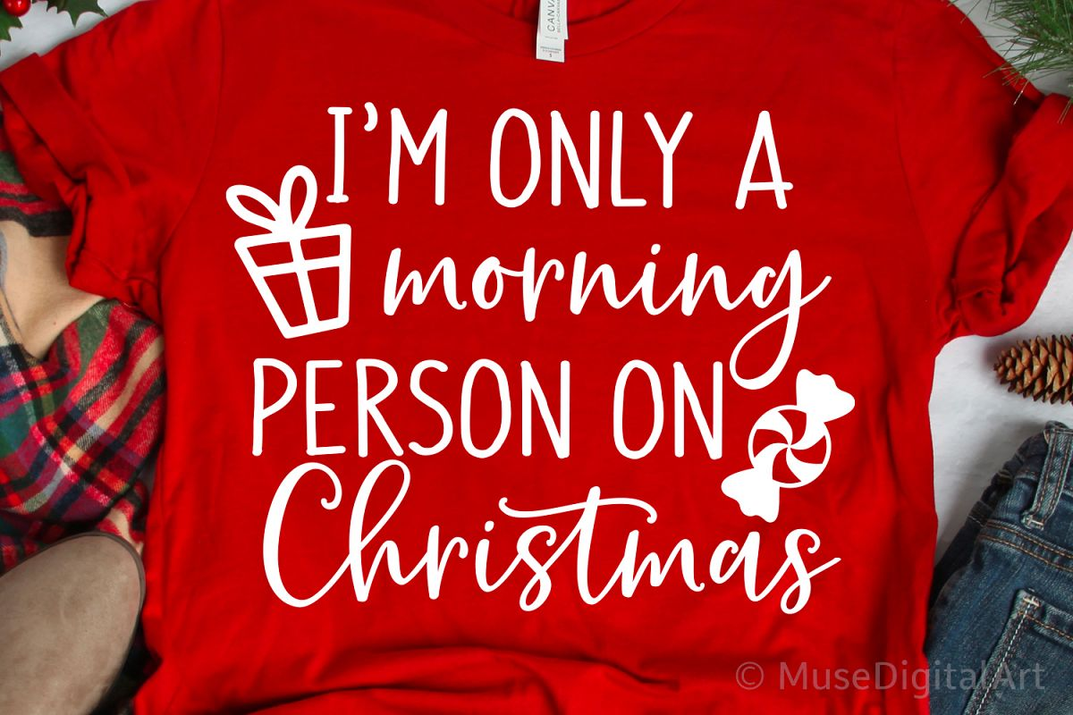 Im Only a Morning Person on Christmas Svg Christmas Svg, Png example image 1