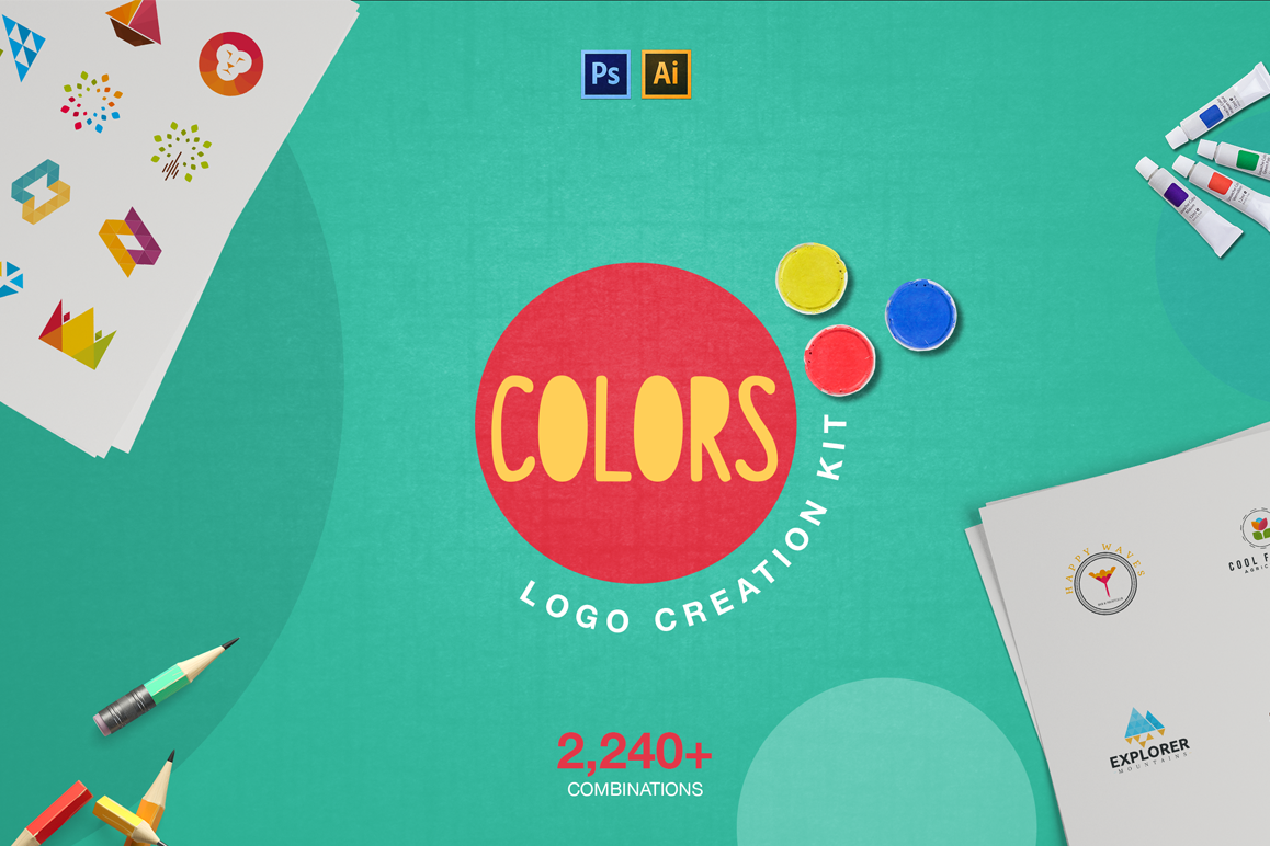 Colors Logo Creation Kit example image 1