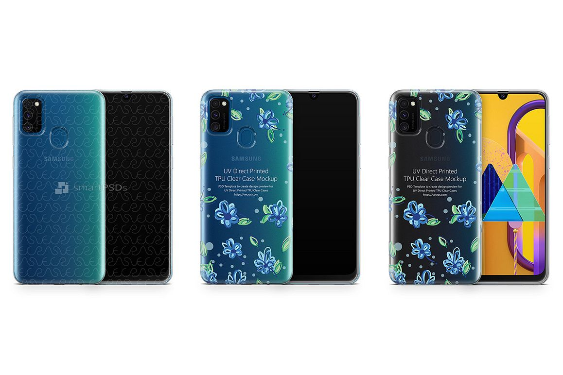 Galaxy M30s 2019 TPU Clear Case Mockup example image 1