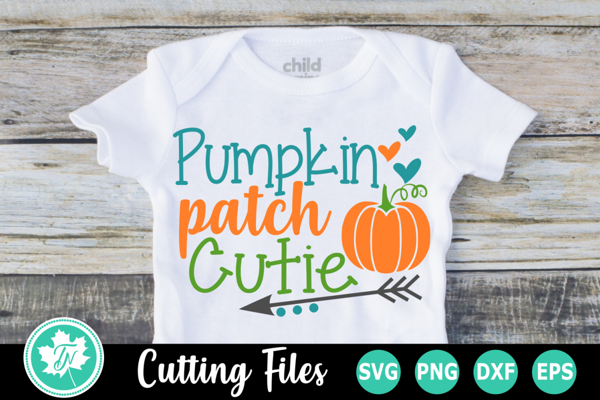 Pumpkin Patch Cutie - A Fall SVG Cut File example image 1