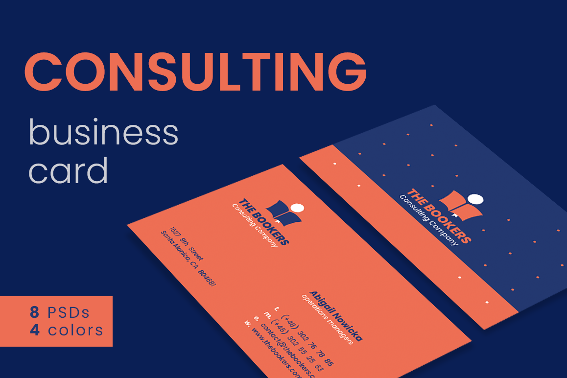 Consulting business cards by felicitys design bundles consulting business cards example image colourmoves